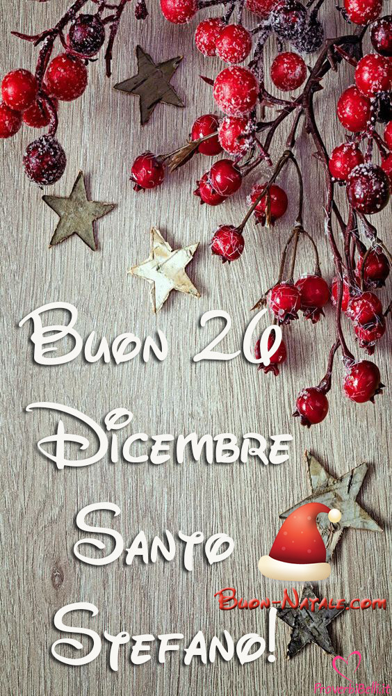 Buon 26 Dicembre Santo Stefano Whatsapp